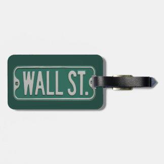 Wall Street Luggage Tag