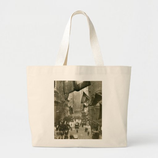 Wall Street Party, end of WW1, 1918 Canvas Bag