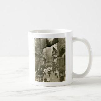Wall Street Party, end of WW1, 1918 Basic White Mug