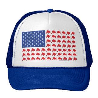 Wall Street Patriotic American Flag Hats