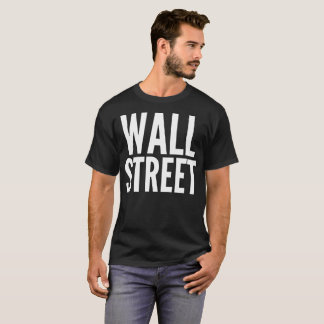 Wall Street Typography T-Shirt