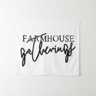 "Wall Tapestry ""Farmhouse Gatherings"""