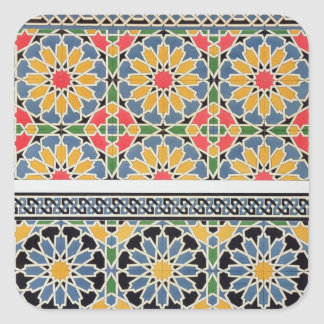 Wall tiles from the mihrab of the Mosque of Cheykh Square Sticker