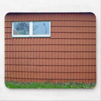 Wall With Building Roof Texture Mousepads