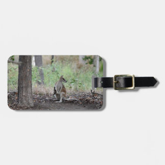 WALLABY AND JOEY RURAL QUEENSLAND AUSTRALIA LUGGAGE TAG