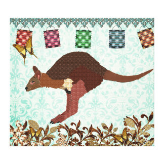 Wallaby Blue Misty Day Canvas Art Stretched Canvas Print