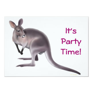Wallaby Party Invitation