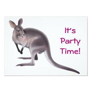 """Wallaby Party Invitation 5"""" X 7"""" Invitation Card"""