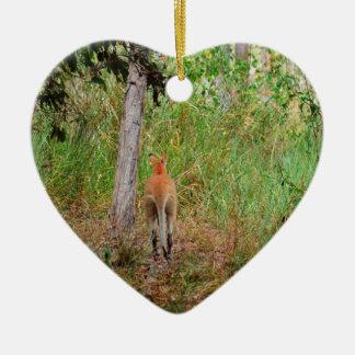 WALLABY RURAL QUEENSLAND AUSTRALIA CERAMIC HEART DECORATION