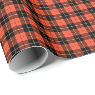 Wallace Clan Ancient Tartan Wrapping Paper