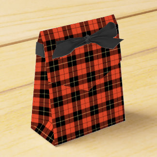 Wallace Clan Coral and Black Ancient Tartan Favour Box