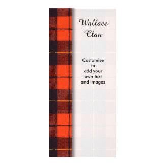 Wallace clan Plaid Scottish tartan Rack Card Template