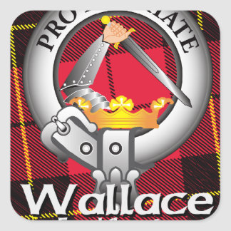 Wallace Clan Square Sticker