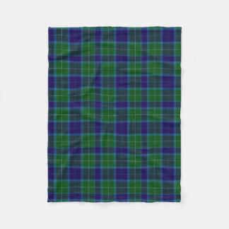 Wallace Clan Tartan Plaid Fleece Blanket