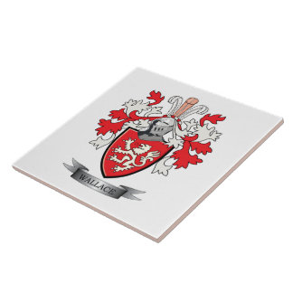 Wallace Family Crest Coat of Arms Ceramic Tile
