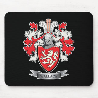 Wallace Family Crest Coat of Arms Mouse Pad