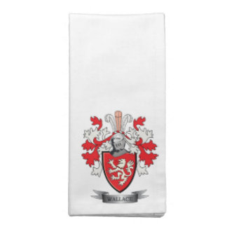 Wallace Family Crest Coat of Arms Napkin