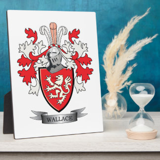 Wallace Family Crest Coat of Arms Plaque