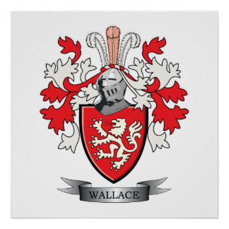 Wallace Family Crest Coat of Arms Poster