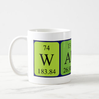 Wallace periodic table name mug