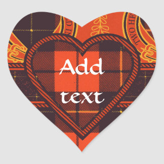 Wallace Scottish Tartan Heart Sticker