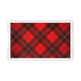 Wallace tartan background acrylic tray