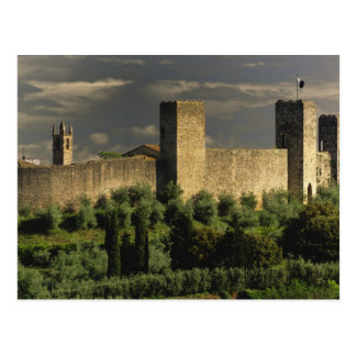 Walled city of Monteriggioni, in the province of Postcard