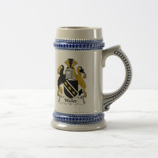 Waller Coat of Arms Stein - Family Crest Beer Steins