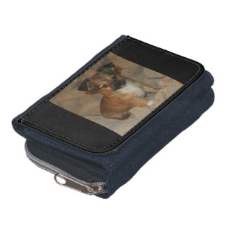 Wallet/Change Purse, Baby Brown Chihuahua Puppy. Wallet