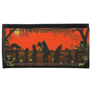 Wallet ,Halloween,purse,clutch,pirate,witch,cat