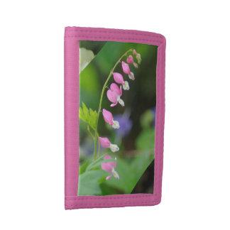 wallet - pink drop flowers