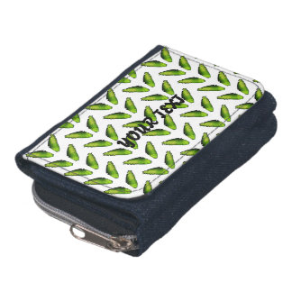 Wallet with green butterfly wings