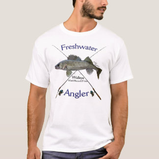 Walleye Freshwater angler fishing Tshirt