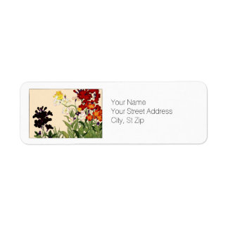 Wallflower, Botanical Art Return Address Label