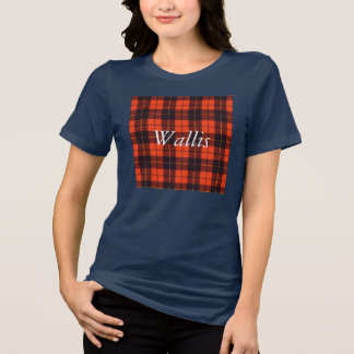 Wallis clan Plaid Scottish tartan T-Shirt