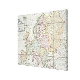 Wallis' New Map of Europe Canvas Print