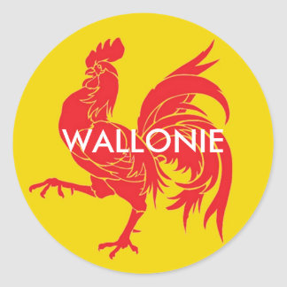 Wallonia Belgium Classic Round Sticker