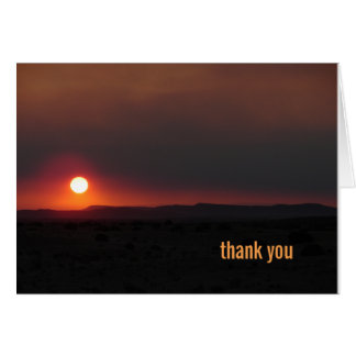 Wallow Fire Sunrise, NM Card
