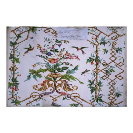 Wallpaper design (Birds), 1840 Poster
