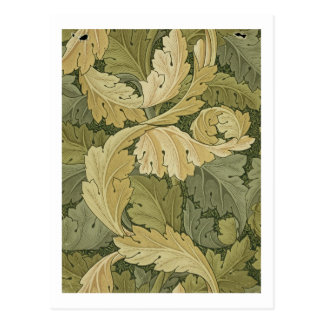 Wallpaper Design with Acanthus/Woodland colours, 1 Postcard