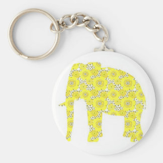 Wallpaper Elephant Basic Round Button Key Ring