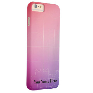 Wallpaper in shades of pink barely there iPhone 6 plus case