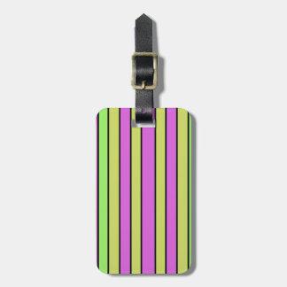 Wallpaper Print Stripe Design Luggage Tag