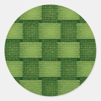 Walls - Greenish Classic Round Sticker