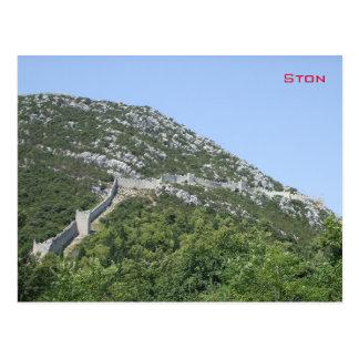 Walls of Ston - Croatia Postcard