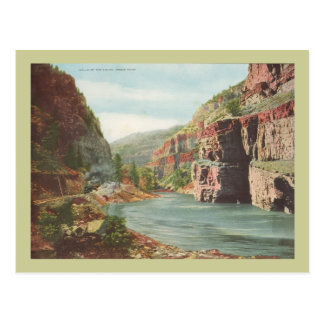 Walls of the Canon, Grand River (Canyon) Postcard