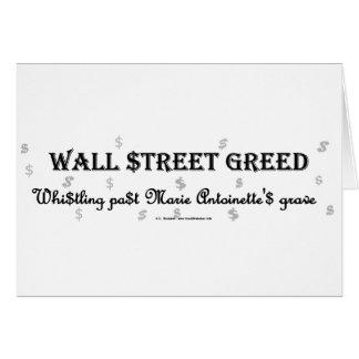 WallStreetGreedMarie Greeting Card