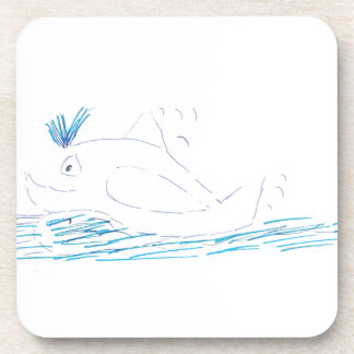 Wally Whale Cork Coaster