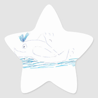Wally Whale Star Sticker