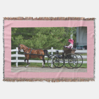 walnut hill carriage driving horse show throw blanket